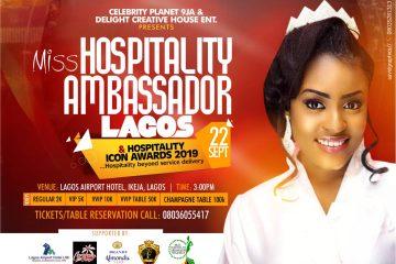 MISS HOSPITALITY AMBASSADOR LAGOS & HOSPITALITY ICON AWARDS 2019