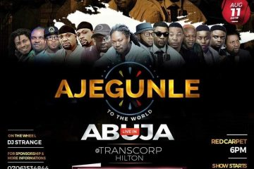 AJEGUNLE TO THE WORLD LIVE IN  …