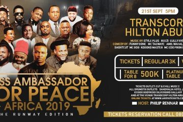 MISS AMBASSADOR FOR PEACE AFRICA 2019