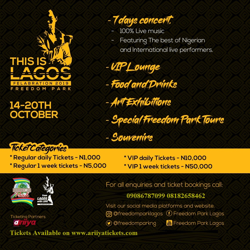 """""""THIS IS LAGOS"""" FELABRATION AT THE FREEDOM PARK"""