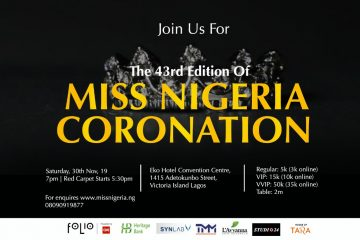 MISS NIGERIA CORONATION 2019
