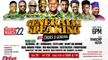 GENERALLY SPEAKING With Chucks D General.