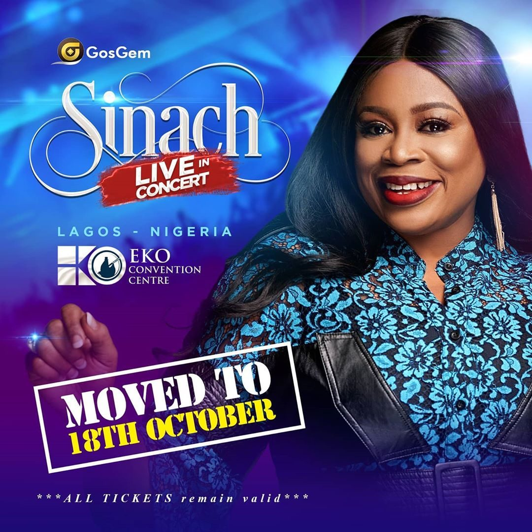SINACH LIVE IN CONCERT RESCHEDULED