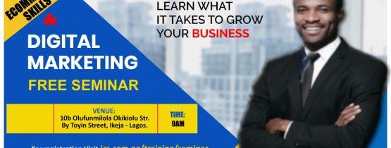 FREE Physical Training  on Digital Marketing and eCommerce Skills