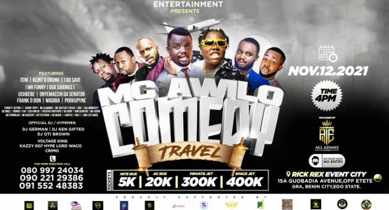 MC AWILO COMEDY TRAVEL